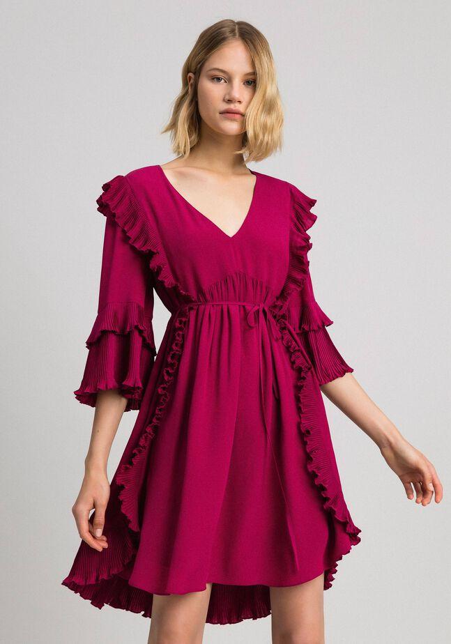 Kleid aus Crêpe de Chine aus Seidenmischung
