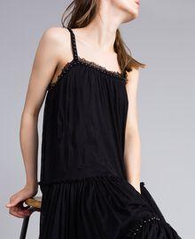 Kleid aus Tüll mit Volants Schwarz Frau JA82MA-04