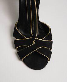 Босоножки из замши Черный женщина 192TCT01G-05