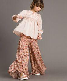 Georgette-Hosenrock mit Blumenmuster Motiv Miniblumen Kind 191GJ2801-0S