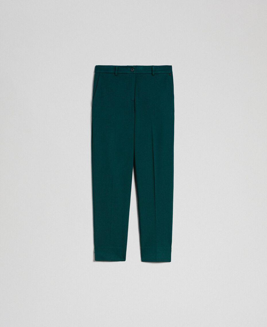 Pantalon cigarette Vert Foncé Femme 192TP2091-0S