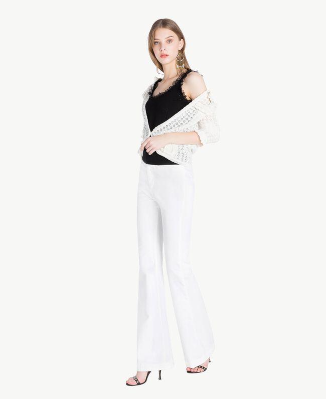 Cotton mandarin collar top Mother Of Pearl Woman TS83AQ-05