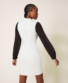 Sheath dress with lace Parchment White Woman 202TT2280-03