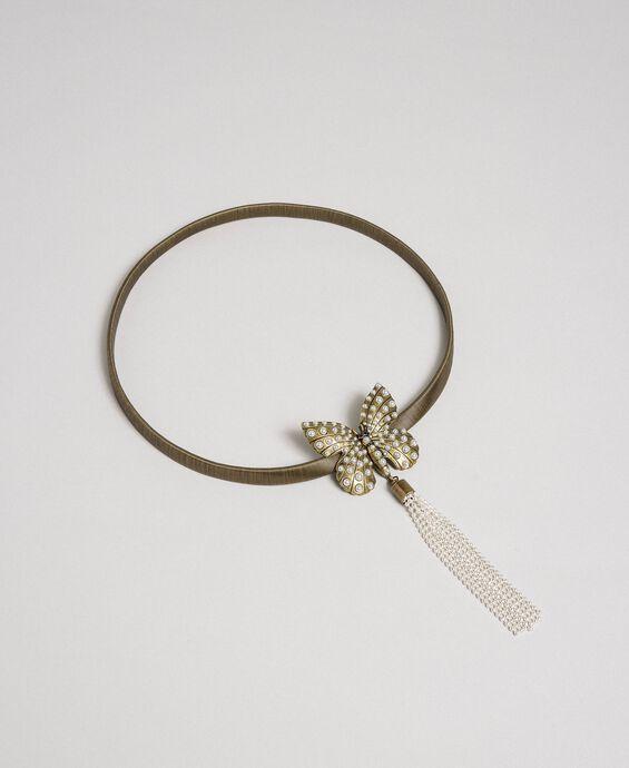 Elasticated metal jewel belt