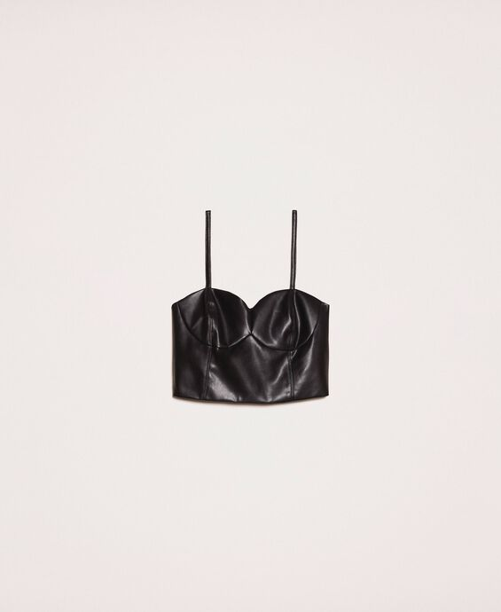 Top bustier in similpelle