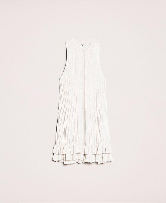 Mini-robe volantée en maille