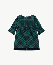 Check dress Midnight Blue / English Green Female FA72BP-02