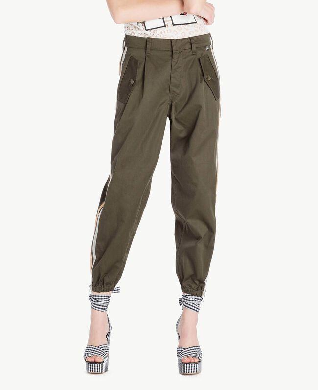 Pantalon cargo Pierre Verte Femme YS826A-01