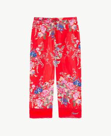 Flowers print trousers Flowers Print / Pomegranate Red Child GS82E2-01