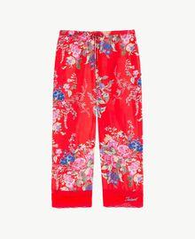 Pantalon imprimé fleurs Imprimé Fleurs / Rouge Grenadier Enfant GS82E2-01