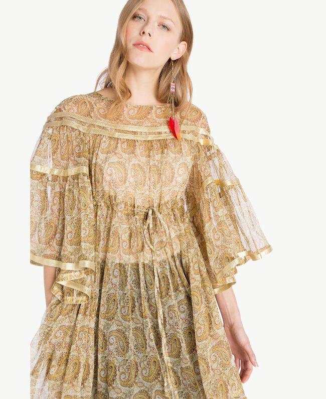 Silk tunic Yellow Macro Paisley Print Woman TS825N-04