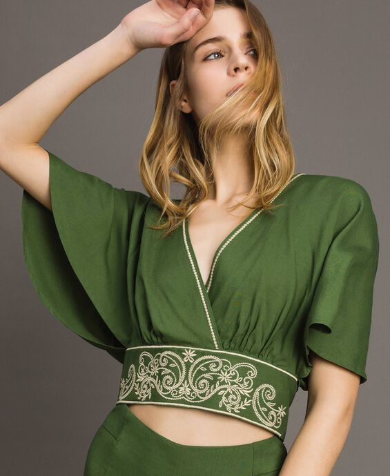 Viscose cropped top