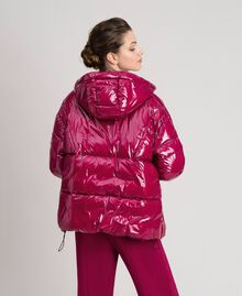 Short quilted puffer jacket with real down Beet Red Woman 192TP2500-03
