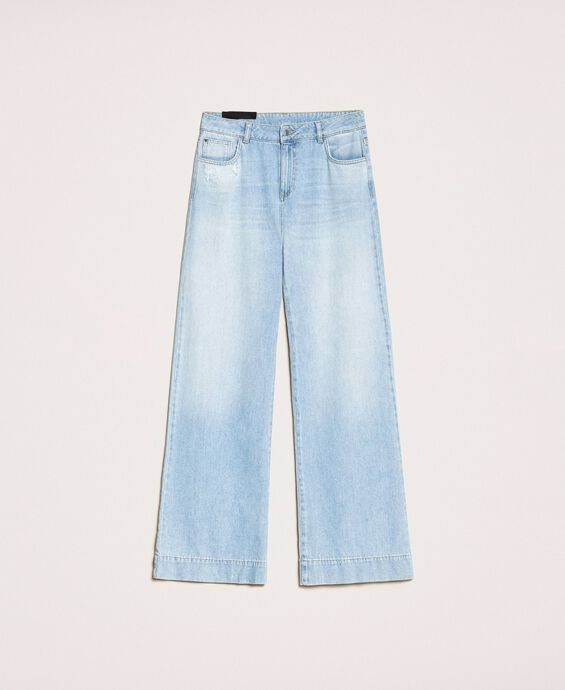 Wide leg jeans with five pockets