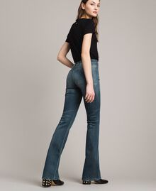 Jeans bell bottom effetto sfumato Denim Blue Donna 191MP2475-03