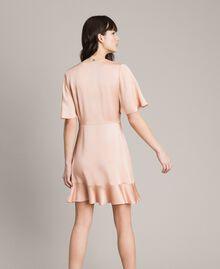 "Flounce and ruffle dress ""Nude"" Beige Woman 191TP2697-03"