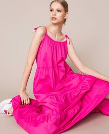 Long dress with flounces Shocking Pink Woman 201LM2AUU-05