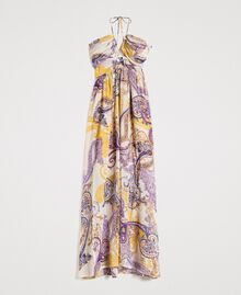 "Long dress with paisley pattern ""Milkyway"" Beige / Paisley Print Woman 191LM2SLL-0S"