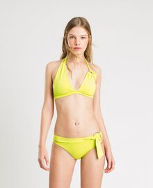 "High Brazilian bikini bottoms with loops ""Lemon Juice"" Yellow Woman 191LBM2XX-0S"