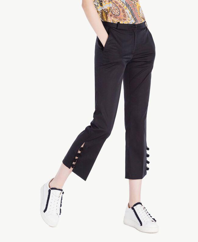 Pompom trousers Black Woman SS82JU-01