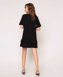 Платье из жоржета с плиссировкой Черный женщина 201TP2026-03