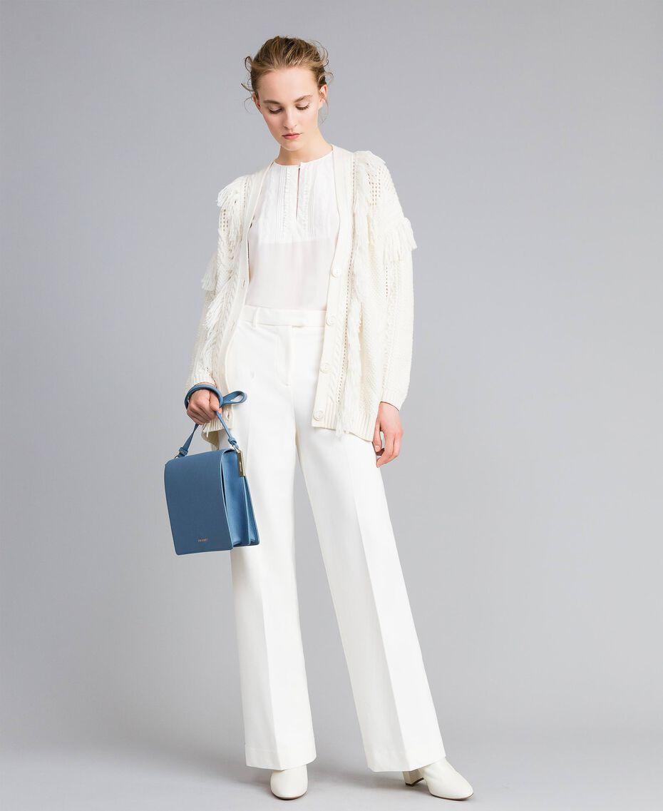Pantalon en point de Milan Blanc Neige Femme PA8218-0T