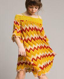 Mehrfarbiges Jacquard-Kleid Mehrfarbiger Jacquard Kind 191GJ2270-0S
