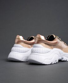 """Glitter fabric running shoes """"Pale Pink"""" Woman 192MCP070-02"""
