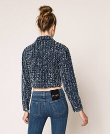 Denim jacket with bouclé Denim Blue Woman 201MP234A-03