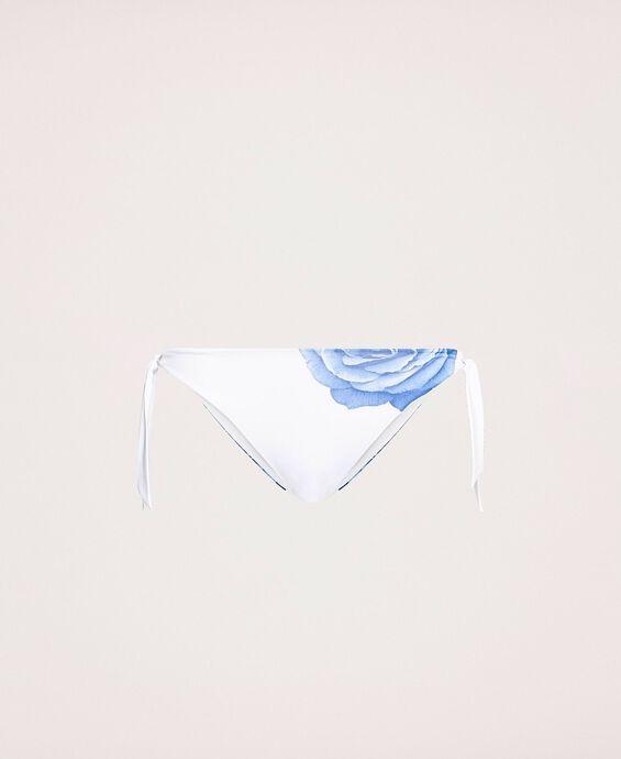 Tanga de bain avec lacets et imprimé