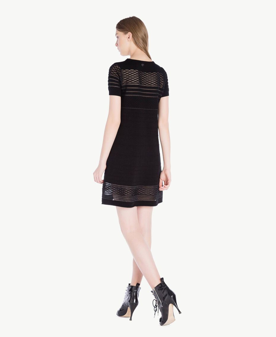 Viscose dress Black Woman PS8362-03