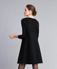 A-line Milan stitch dress Black Woman PA821U-03