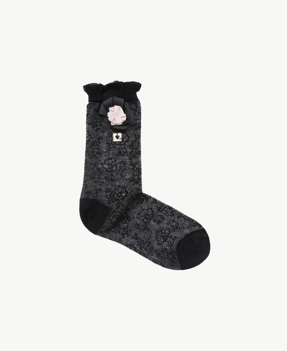 Lace socks Black Woman AS8P6R-01