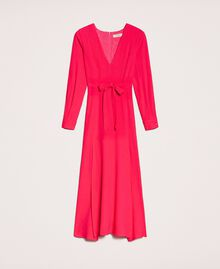 Long dress with slits Black Cherry Woman 201TP2433-0S
