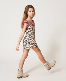 Short animal print jumpsuit Leopard Spot & Paisley Print Child 211GJ2247-02