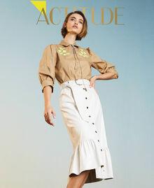 Midi skirt with flounce Vanilla White Woman 211MT2161-01