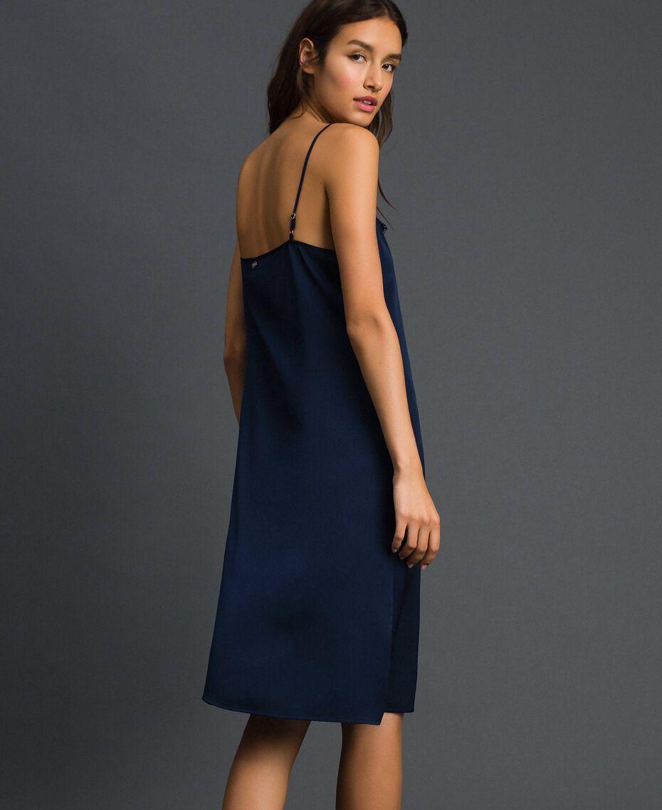 Scalloped lace slip dress Night Blue Woman 192ST2092-03