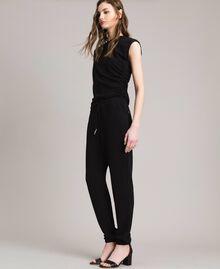 Pantalon de jogging en jersey de lurex Noir Femme 191MP2026-03