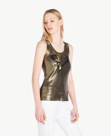 Trägerhemd mit Beschichtung Steingrün Frau YS821B-02