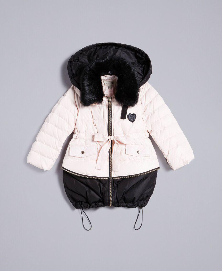 "Two-tone padded jacket Bicolour ""Blush"" Pink / Black Child FA82AN-01"