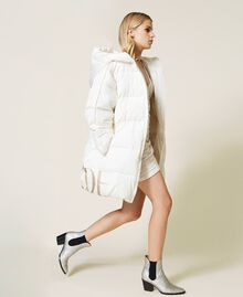 'Alum' puffer jacket with logo print Mother Of Pearl Woman 212AT2040-03