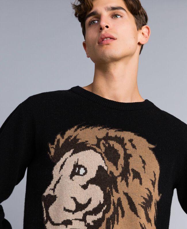 Wool blend oversized jumper Black Man UA83H2-04