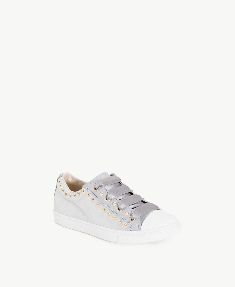 Sneaker mit Nieten Perl Weiß Kind HS88BN-02
