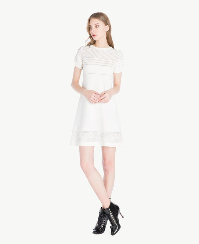 Viscose dress Light Ivory Woman PS8362-01