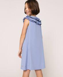 "Georgette dress with pleated ruffles ""Ice"" Dark Blue Child 201GJ2QE0-03"