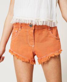 "Frayed bull shorts ""Iceland Poppy"" Orange Child 211GJ206E-04"