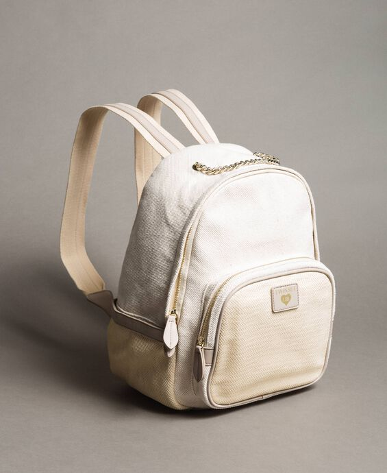 Canvas and mesh backpack