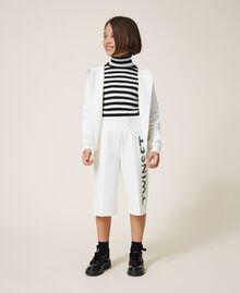 Maxi scuba sweatshirt with embroidery Off White Child 202GJ2700-0T