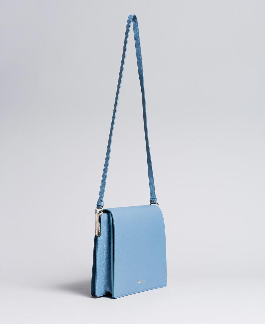 Tracolla grande in pelle Azzurro Infinito Donna AA8PGC-02