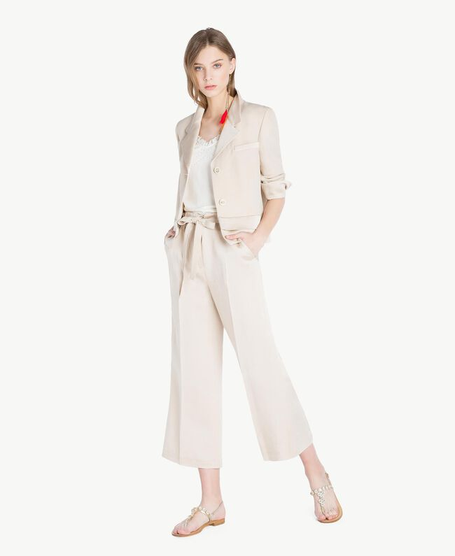 Envers satin trousers Dune Woman TS823P-05